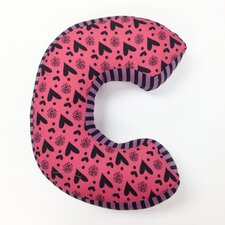 "Sassy Shaylee Letter ""C"" Cotton Throw Pillow"