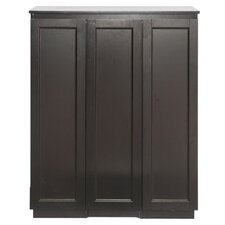 Baxton Studio Baltimore Bar Cabinet with Wine Storage