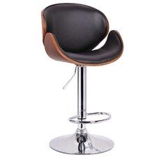 Baxton Studio Adjustable Height Swivel Bar Stool with Cushion
