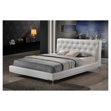 Baxton Studio Panchal Upholstered Modern Panel Bed