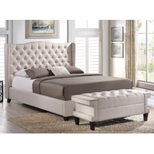 Baxton Studio Norwich Platform Bed With Bench