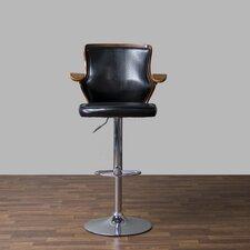 Baxton Studio Hamilton Adjustable Height Swivel Bar Stool with Cushion