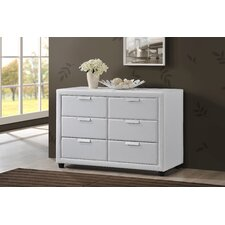 Pageant 6 Drawer Combo Dresser