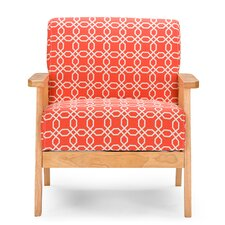 Baxton Studio Francis Retro Mid Century Patterned Fabric Arm Chair