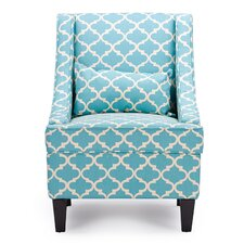 Baxton Studio Lotus Contemporary Fabric Arm Chair