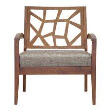Baxton Studio Jennifer Twill Arm Chair