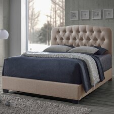 Baxton Studio Romeo Upholstered Platform Bed