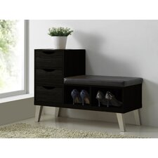 Baxton Studio Arielle Upholstered Storage Entryway Bench