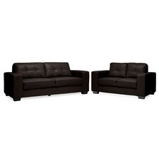 Baxton Studio Whitney Modern and Contemporary Modern Loveseat and Sofa Set