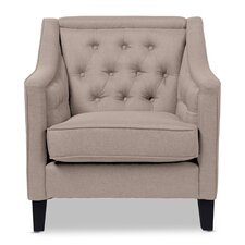 Baxton Studio Classic Retro Upholstered Armchair