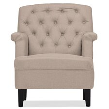 Baxton Studio Classic Retro Upholstered Arm Chair