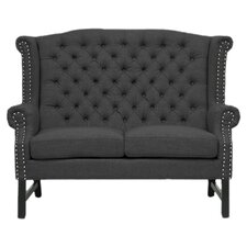 Remington Tufted Loveseat in Charcoal