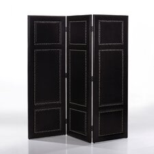"""64.55"""" x 59.48"""" Modern and Contemporary 3 Panel Room Divider"""