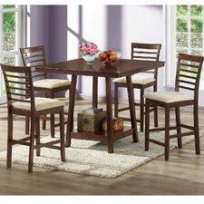 Baxton Studio 5 Piece Counter Height Dining Set