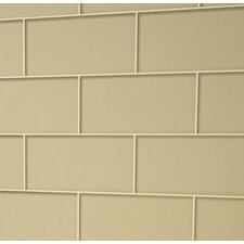 "3"" x 6"" Glass Subway Tile in Light Taupe"