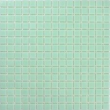 Urban Glass Mosaic Tile in Light Teal