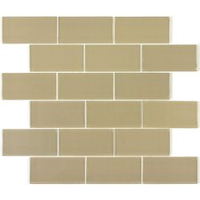 "2"" x 4"" Glass Mosaic Tile in Light Taupe"