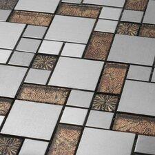Venetian Random Sized Glass and Aluminum Tile in Colosseum