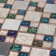 Venetian Random Sized Glass and Aluminum Tile in Genoa