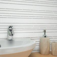 Club Random Sized Glass Mosaic Tile in Bright White