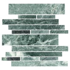 Stone Club Random Sized Mosaic Tile in Empress Green Marble