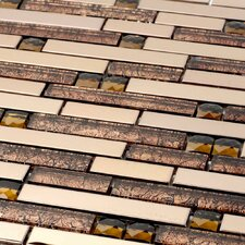 Venetian Random Sized Glass and Aluminum Mosaic Tile in Padova