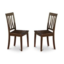 Antique Side Chair with Wood Seat (Set of 2)
