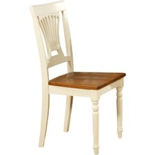 Plainville Wooden Chair in Cream & Cherry (Set of 2)