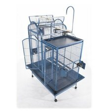 Small Split Level House Bird Cage with Divider