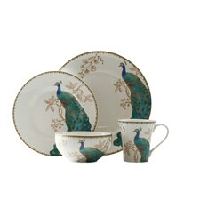 Peacock Garden 16 Piece Dinnerware Set