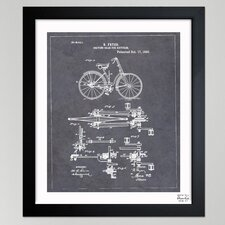 """Oliver Gal """"""""Fryer, Driving Gear for Bicycle, 893"""""""" Framed Graphic Art"""