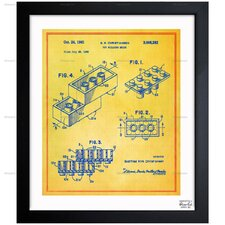 Oliver Gal Lego Toy Building Brick 1961 Framed Painting Print on Wrapped Canvas