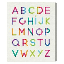 """Modern ABCs"" by Olivia's Easel Canvas Art"