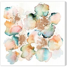 """""""Rose Gold Garden"""" by Artana Painting Print on Wrapped Canvas"""
