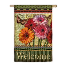 Floral Wishes Vertical Flag