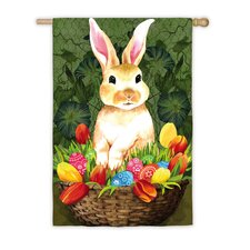 Welcome Bunny Vertical Flag
