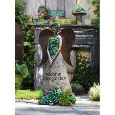Succulent Garden Angel Statue