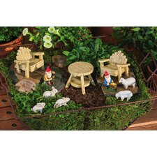 Rustic Garden Furniture Set Statue