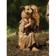 Large Shepherd with Lamb Statue