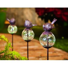 3 Piece Nature's Touch Glow in Dark Bird Stake Set (Set of 3)