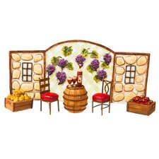 Mini Garden Vinyard Statue Set