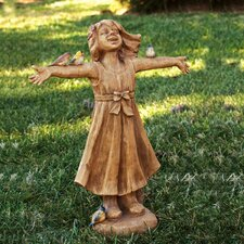 """Joy"" Girl Rejoicing Statue"
