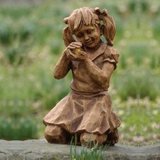 Girl with Firefly Solar Statue