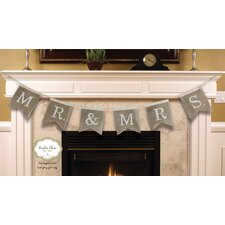Mr and Mrs. Burlap Bunting Banner