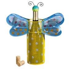Polka Dots Dragonfly 1 Bottle Tabletop Wine Rack
