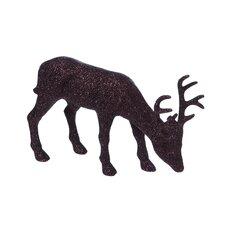 Wintery Glitter Plastic Feeding Deer Table Décor