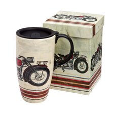 Motorcycle Madness Boxed Ceramic Travel Latte Cup