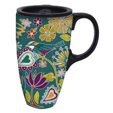 Lovely Season Ceramic Travel Cup with Ceramic Lid