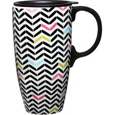 Sugarland 17 oz. Ceramic Latte Travel Cup with Lid