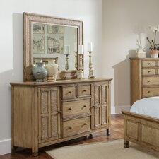 Kingston Isle 4 Drawer Combo Dresser with Mirror